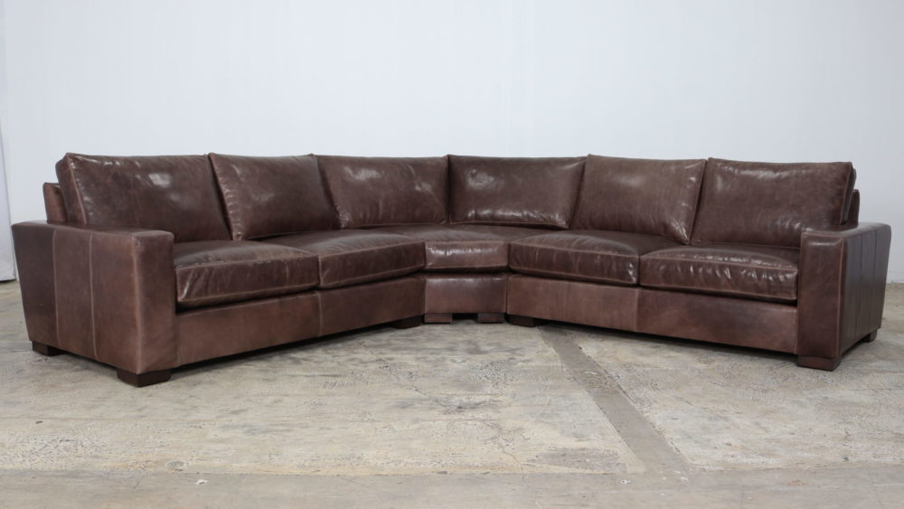 Cococo Home, Moore and Giles, Madrid Dove, Leather Sectional
