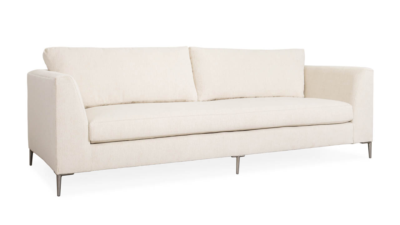 Everly Fabric Sofa 100 x 40 Gowan Coconut by COCOCO Home