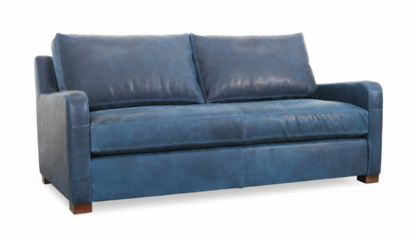 Kilgore Leather Loveseat 74 x 38 Brentwood Navy Milled 1 1
