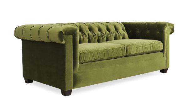 Lennox Chesterfield Fabric Sleeper Sofa 84 x 41 Como Jade by COCOCO Home
