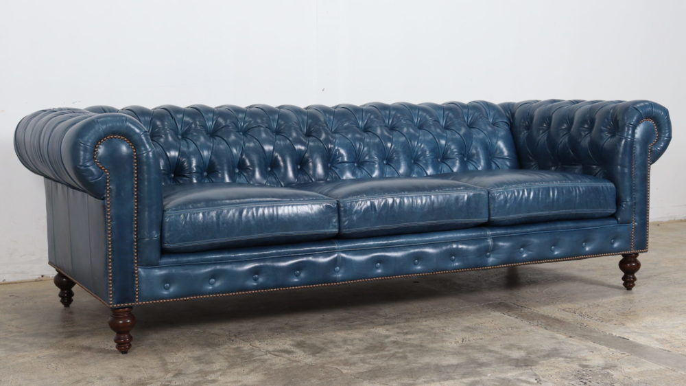 Moore & GIles, Mont Blanc Nice, Chesterfield, Blue Leather, Blue chesterfield, COCOCO Home